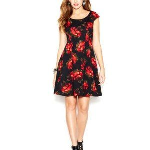 Betsey Johnson Rose Print Dress